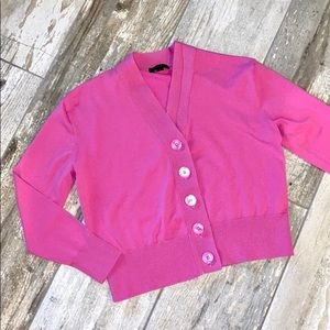 J.crew Pink Cardigan Button Sweater Top Small